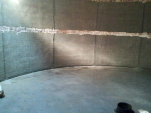 Power washing interior concrete structures